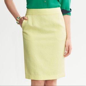 Banana Republic Yellow Print Skirt 2